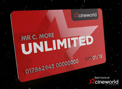 Cineworld Unlimited RAF-80XD-11EG-92TB-66LL Extra 1 Month Code Promo Coupon