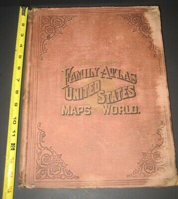 HUGE RARE WORLD UNITED STATES ATLAS MAPS_ simi to COLTON'S JOHNSON'S_ONLY 1 EBAY