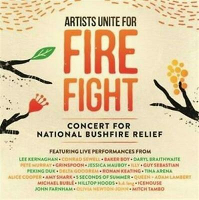 Artists Unite For Fire Fight National Bushfire Relief Various Artists 2 CD NEW