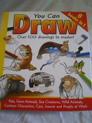 You Can Draw / 8 Books in One/ Damien Toll/Animals/Insects/Cartoons