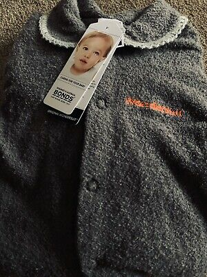 NEW Neutral Bonds Classic Wondersuit Poodlette Charcoal Size 0000 (Newborn)