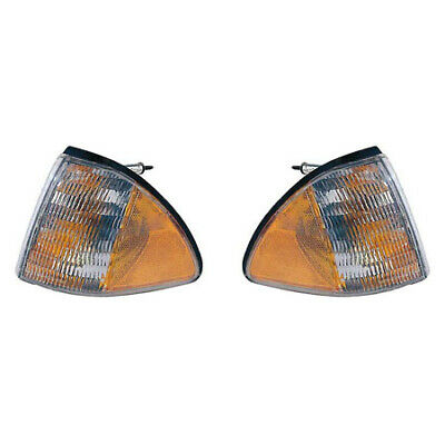 Fits 1987-1993 Ford Mustang Front Reflector Pair FO2550105+FO2551103