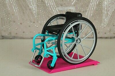 New Unboxed Wheelchair & Ramp From Barbie Wheelchair Fashionistas #132(No Doll)