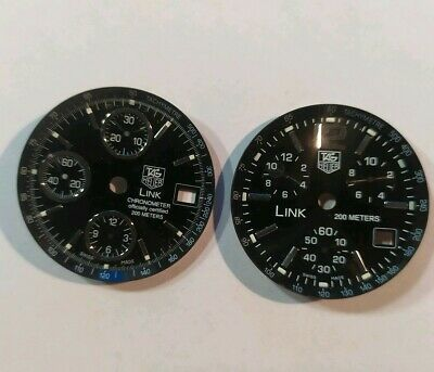 Cadrans Pour Montres Tag Heuer Link Chronograph. Old Watch Dials