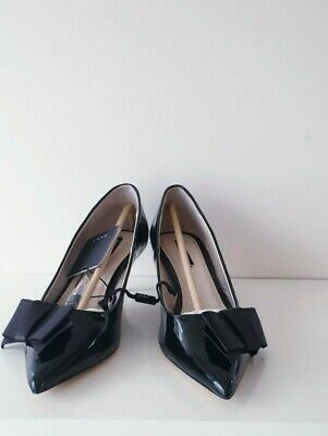 BLACK ZARA BASIC Collection Black Patent High Heel Shoes