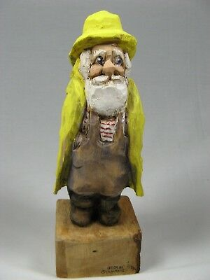 George Gunning Wood Carving – The Fisher Man – Mint Condition