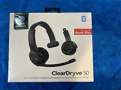 Rand McNally ClearDryve 50 2-in-1 Wireless Bluetooth Over-Ear Headphones NEW