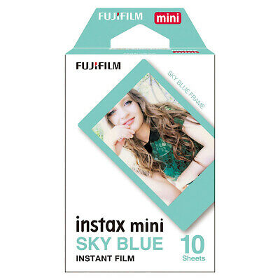 Fujifilm 16537055 Instax Blue Border Mini Instant Picture Film - 10 Shot Pack