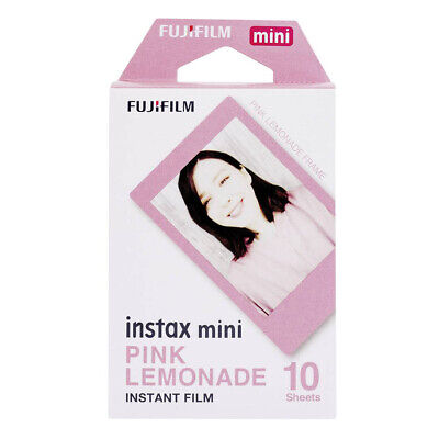 Fujifilm Instax Mini Pink Lemonade 54x86mm Instant Picture Film - 10 Exposures