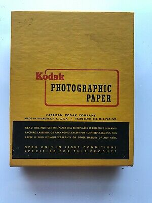 Kodak Photographic Paper F-2 4x5in Sheets Open Box Expired 12/63