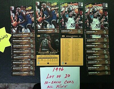 1996 All Sport PPF Shaquille O'Neal Lot of 20 Cards Orlando #1 & #50 Free Shipp