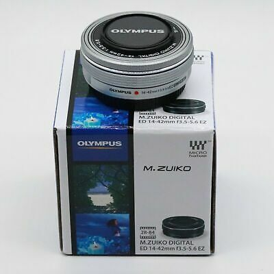 New Olympus M.Zuiko ED 14-42mm f/3.5-5.6 EZ Zoom Lens Silver Micro 4/3 Boxed New