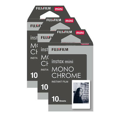 Fujifilm 70100137913x3 Instax Mini Monochrome Instant Film 30 Shot Pack