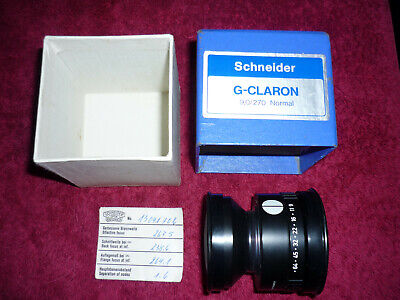 SCHNEIDER 270mm f/9 G-CLARON Process Lens in Barrel