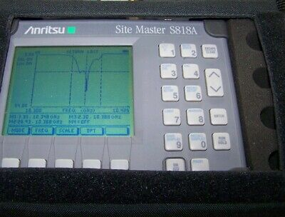 Anritsu S818A opt. 5 Sitemaster 3.3-18GHz w/Power measuring option tested works.