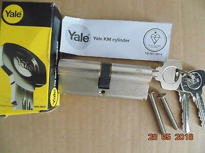 Yale Euro Double Cylinder Km3535-Np British Standard 6 Pin - Nickel Plated