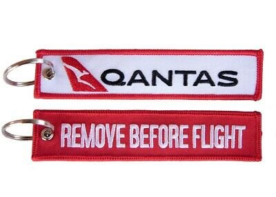 Qantas Remove Before Flight Keyring / Luggage Tag