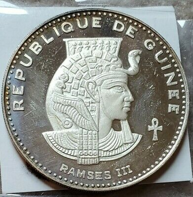 1970 Guinea 500 Francs Silver Proof Ramses III