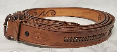 NEW Leather Hand Tooled Western Belt Size 44 40 38 36 34 Made in Mexico FS