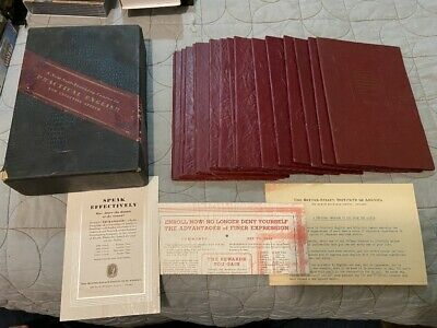 1935 New Self-Teaching Course in Practical English and Effective Speech Antique
