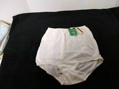 NEW NWT Vintage Greenco Maid Nylon Tricot Cotton Gusset Panties Granny Lace SZ 5