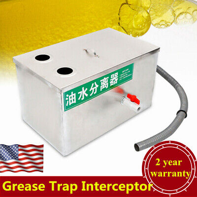 "Commercial Grease Trap Stainless Steel Grease Trap Interceptor 19""x11""x11"""