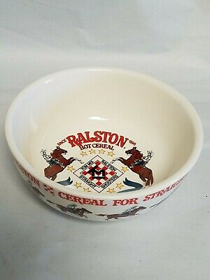 Vintage 1983 Commemorative Ralston Purina Tom Mix Straight Shooters Cereal Bowl