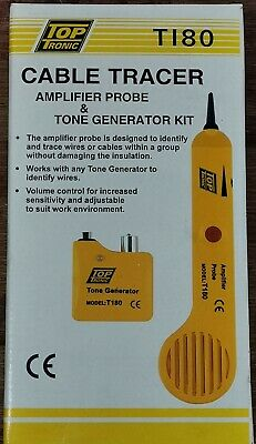 Cabac T180 Cable Tester Tracer Locator Top Tronic Amplifier Probe tone generator