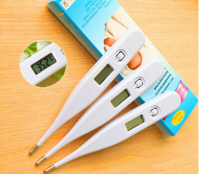 Medical Digital Thermometer Oral Ear Underarm Audible Fever Alarm LCD Display