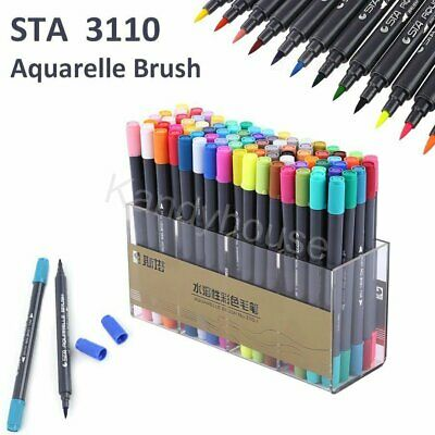 48/80 Color Touch STA Brush Watercolor Marker Pen Graphic Twin Tip Art Painting