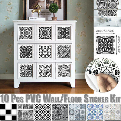 Mosaic Self-adhesive Stick On PVC Wall Tile Stickers Bathroom Kitchen Decor