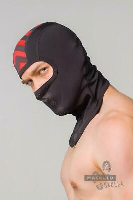 MASKULO Masks Mesh Skulla Fetish Balaclava One Size Fits All RED AC071