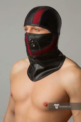 MASKULO Masks 3D Mesh Quality Masque Armored Fetish Balaclava Red AC062 13