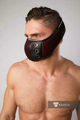 MASKULO Masks 3D Mesh Elastic Adjustable Straps Masque Fetish RED AC061 13