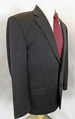 Brooks Brothers Madison Mens Sport Coat Sz 43 R Charcoal Pin Wool Blazer Jacket