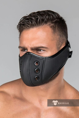 MASKULO Masks Armored Maskulo Fetish Mask (Muzzle) Rubber Look AC21 13