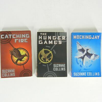 HUNGER GAMES Lot of 3 Books Full Complete Set Suzanne Collins Paperback Trilogy