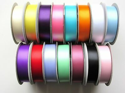 Double Sided Satin Ribbon Sold by the Metre Choice of 15 Colours and 5 Widths