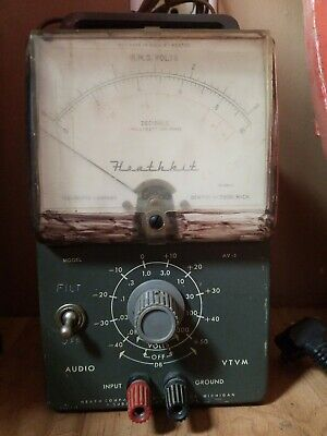 VTG Heathkit AV-3 Audio VTVM Test Meter Ham Amateur Radio Bench Tool AV3