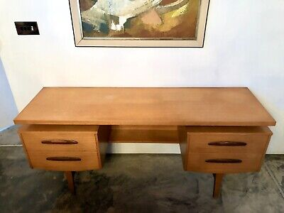 Vintage Mid Century Teak Dressing Table by William Lawrence