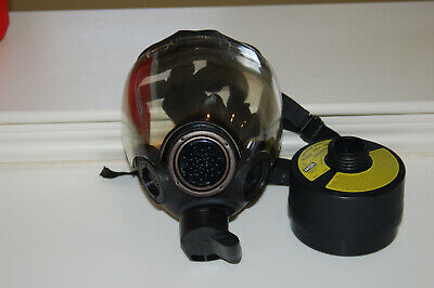MSA MILLENNIUM  CBRN Gas Mask Respirator Size small &  40mm Canister filter