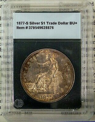 1877-S Silver $1 Trade Dollar Rare Gem Brilliant Uncirculated + Bonus