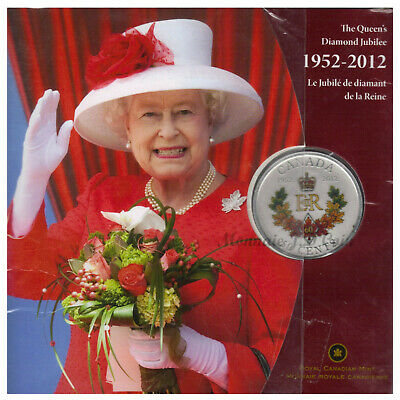 2012 Canada 50 Cents Queen's Diamond Jubilee Royal Cypher Silver Plated Coin(11)
