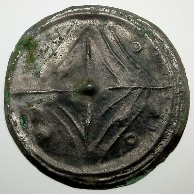 Bronze Large Mirror Pendant Tree of life Solar sign  Coin 100mm Viking 500-700AD