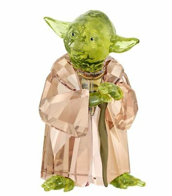 New in Box $239 SWAROVSKI 2018 Disney Star Wars Master Yoda #5393456