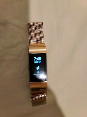 Fitbit Charge 2 Heart Rate Monitor Fitness Tracker Rose Gold
