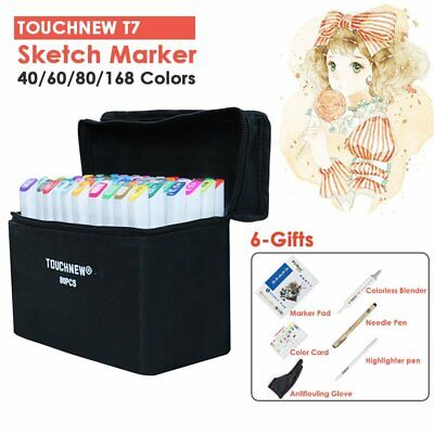 Touch Five 80 Colour set Craft Markers Pen Twin Tips Graphic Art Sketch as COPIC