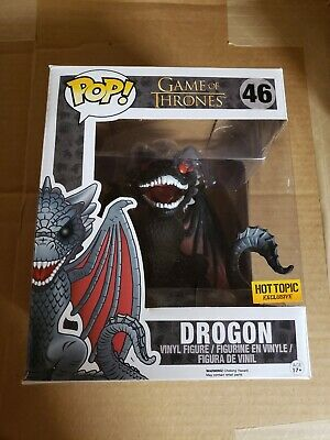 "Funko Pop Drogon dragon Red Eyes Game of thrones GoT 6"" hot topic Exclusive"