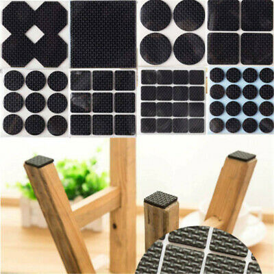 New 55pc Rubber Anti-Scratch Non-Slip Chair Table Leg Foot Wood Floor Protectors