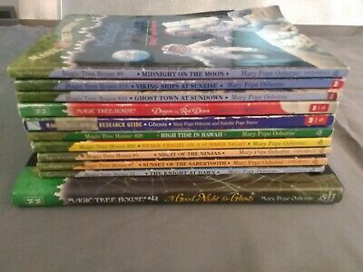 Lot of 11 Magic Tree House Books Scholastic Homeschool Reader Softcover Chapters